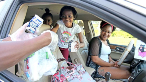 Broward schools providing breakfast and lunch via drive-by service because of coronavirus