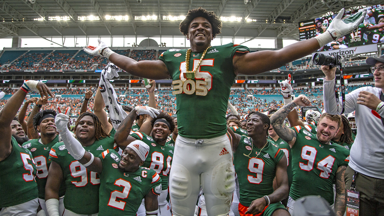 Miami redshirt freshman Greg Rousseau, 2 1/2 sacks from nation's lead, gets huge honor