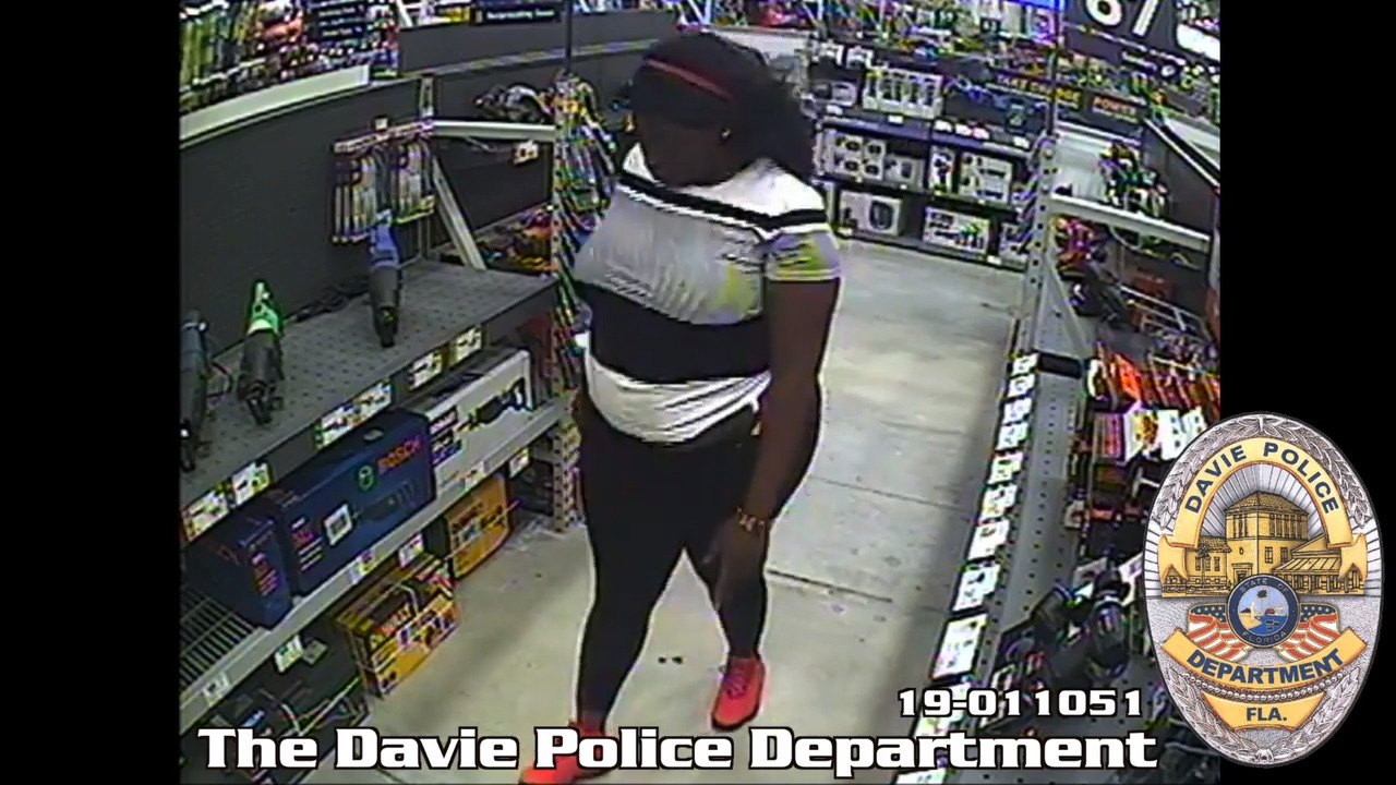 Woman steals $1,200 in tools from Broward Lowes   Miami Herald