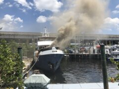 Firefighters respond to two-alarm yacht fire