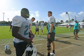 Miami Dolphins running back Frank Gore says he's nervous for the first game