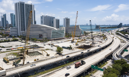Work on I-395 construction is starting to take shape