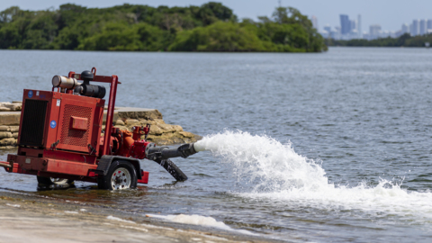 Pumps running in Biscayne Bay to help prevent more fish kill