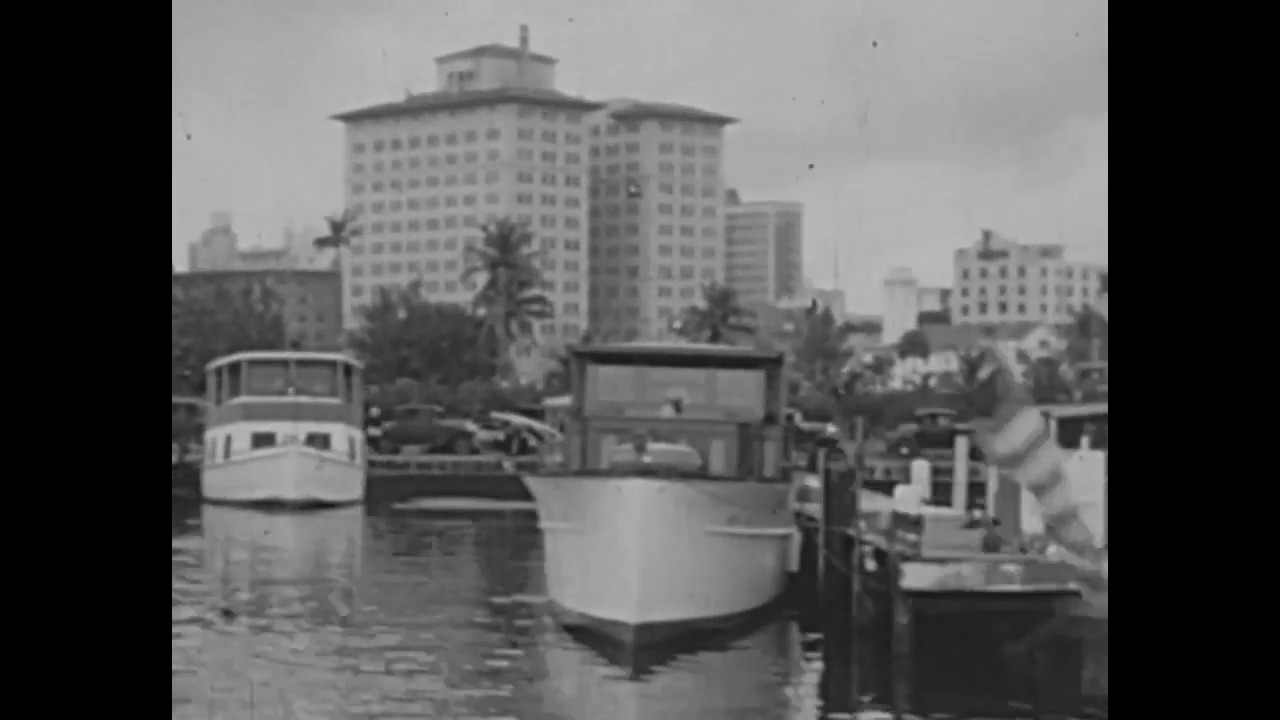 Moving images of 1926 Miami, Miami Beach and Coral Gables