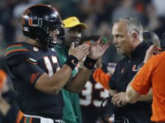 UM coach Richt says Hurricanes quarterback Rosier 'starter'