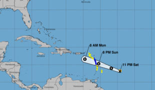 Hurricane Beryl less organized as it approaches the Caribbean islands