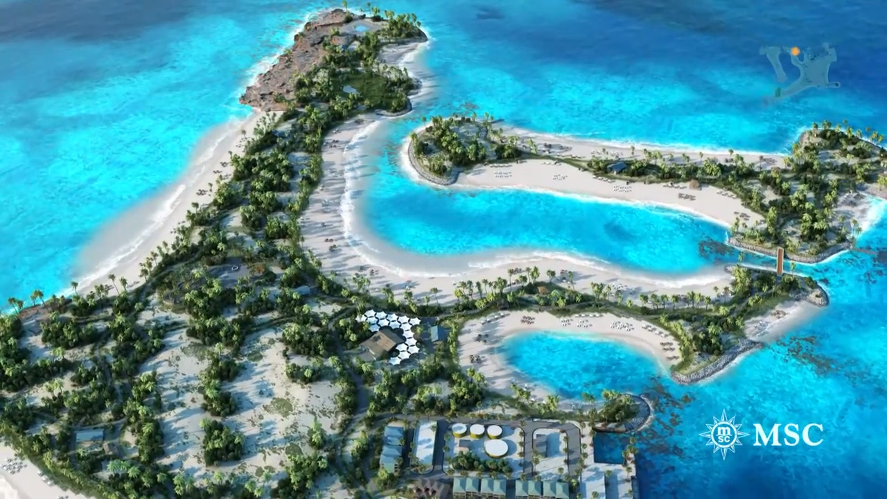 MSC Cruises nearing finish on private island destination in the Bahamas