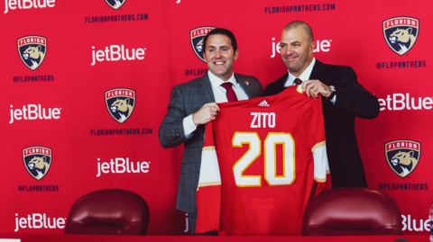Florida Panthers hire Bill Zito as new GM