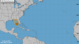 Cluster of thunderstorms has potential of development into early season tropical system