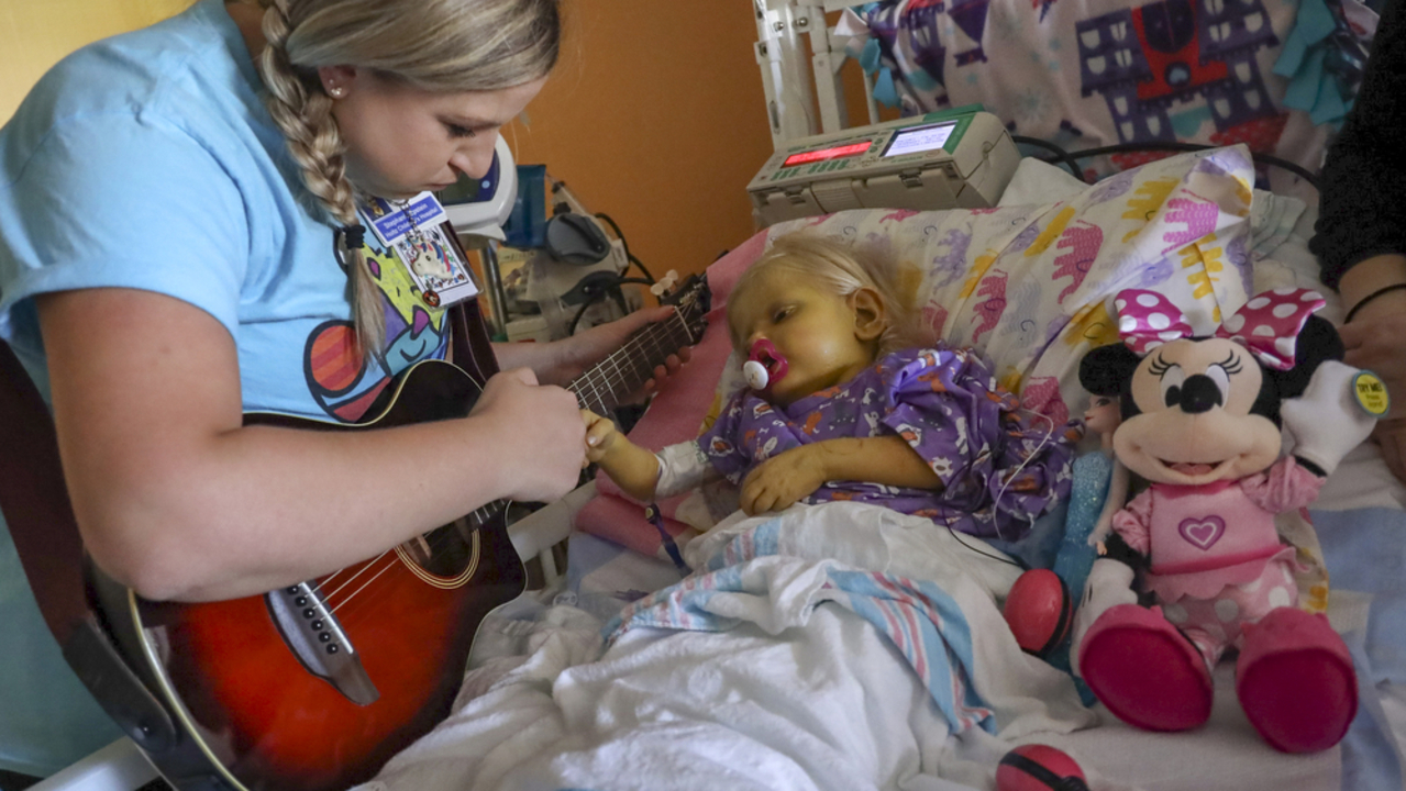 Holtz Children's Hospital in Miami uses music therapy to reduce sedation for kids
