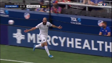Gonzalo Higuain 85th min game winning goal gives Inter Miami a win against FC Cincinnati
