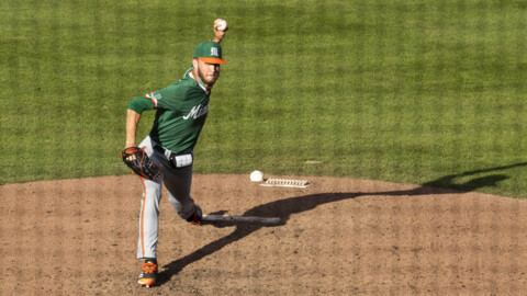 Miami Hurricanes pitcher Carson Palmquist on closing and the opening series win over the Gators