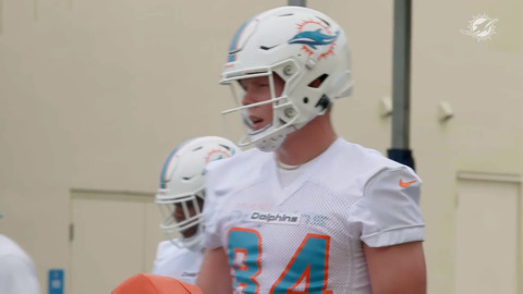 Dolphins rookie TE Hunter Long talks about his first experience at rookie mini camp