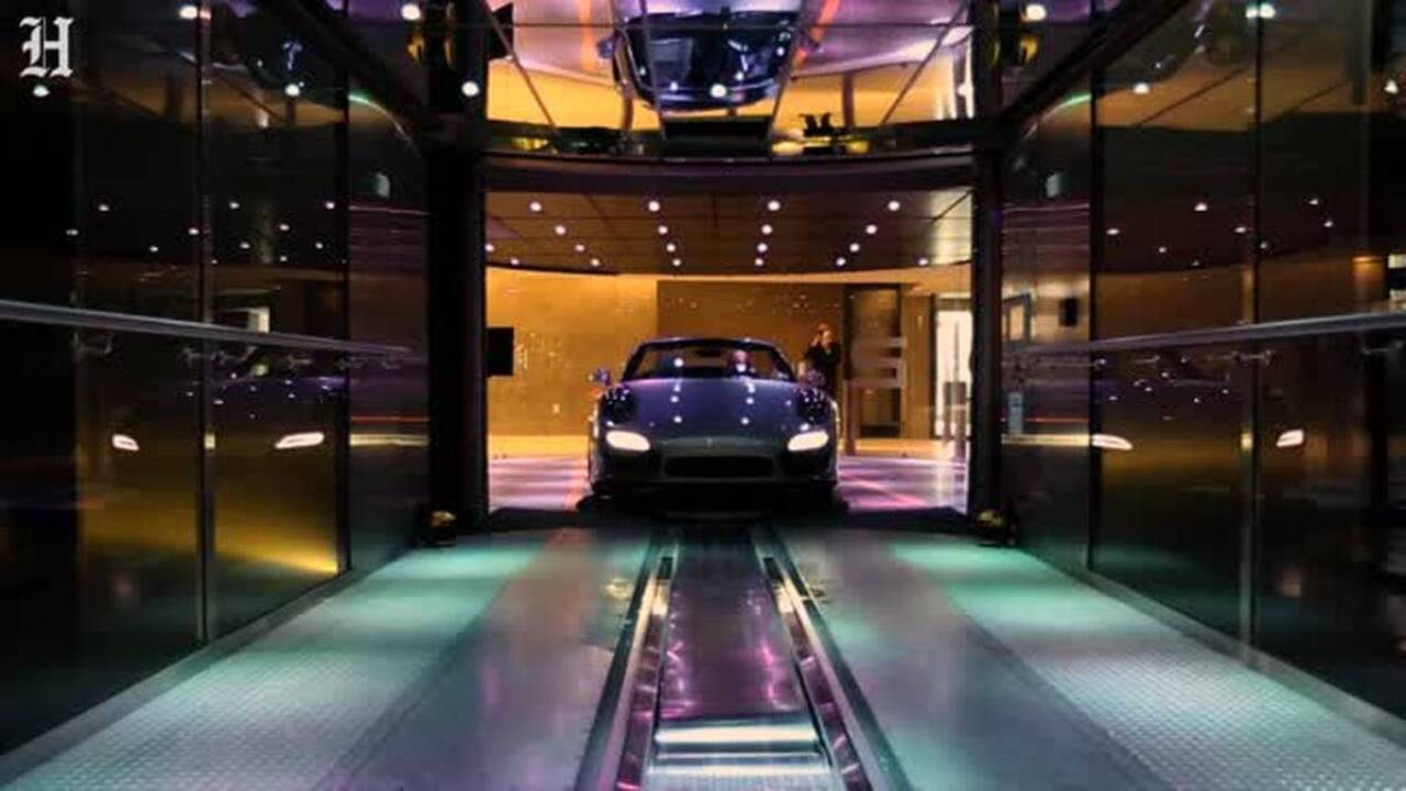 At The New Porsche Design Tower In Sunny Isles Beach Elevators Takes You Up To Your Condo Car Miami Herald