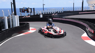 You can ride 30 mph race cars on a new cruise ship