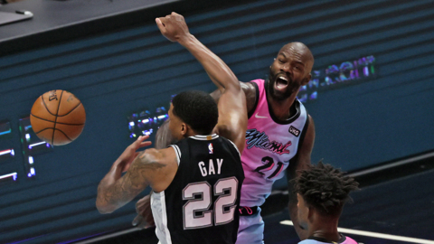 """Spoelstra on Dewayne Dedmon: """"We haven't been able to do that, have many minutes where Bam is sitting down and we go on a run."""""""