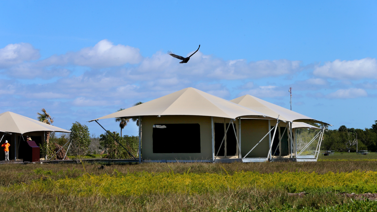 Finally, a place to book a bed in Everglades National Park. It's in a posh metal box