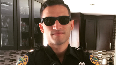 Once a fitness junkie, a Miami cop struggles to walk after brain surgery. How you can help