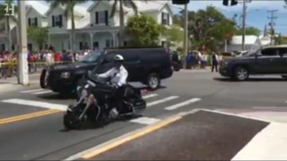 Donald Trump greeted with a chorus of boos in Key West