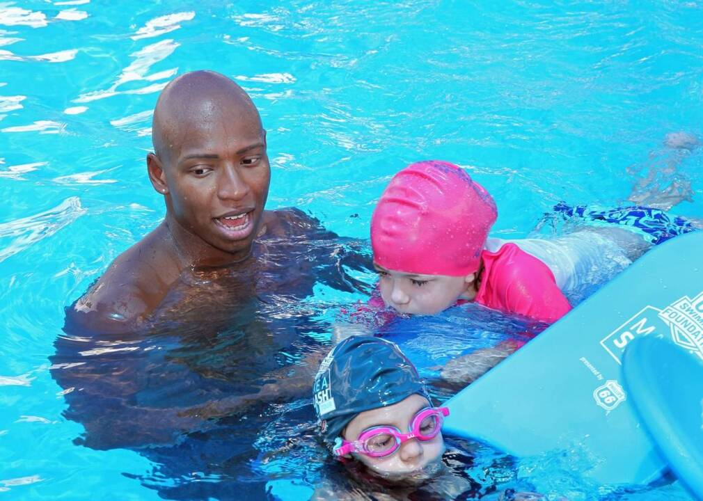 Olympic gold medalist talks about water safety