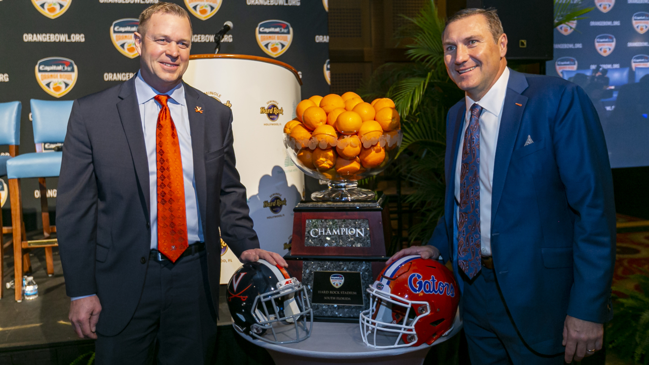 Florida Gators and Virginia Cavaliers head coaches talk about recruiting in Florida