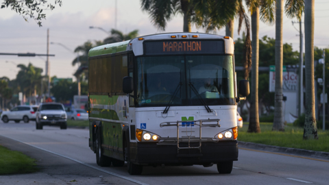 Workers ride this bus to better-paying jobs in paradise. They're a long way from home