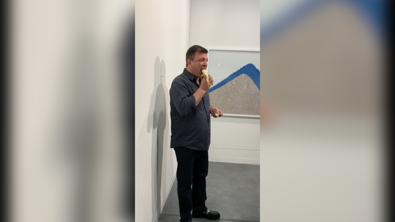 Someone ate the $120,000 banana at Art Basel. Some quick thinking saved the day
