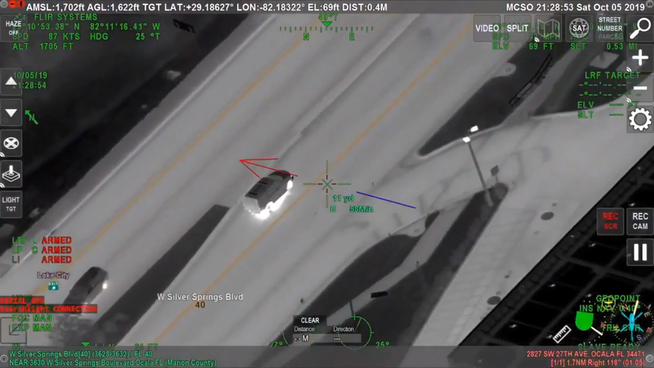 Watch as Florida man tries to escape police in dangerous chase with kids in car