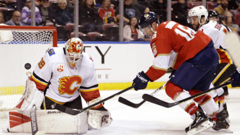 Struggling Florida Panthers shut out by Flames for seventh home loss in a row