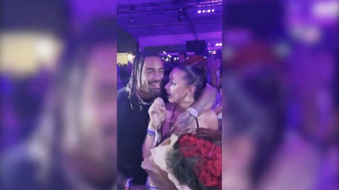 Miami Dolphins player and influencer get engaged at Rolling Loud