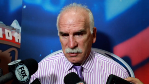 Panthers coach Quenneville talks about the shutout win against the Red Wings