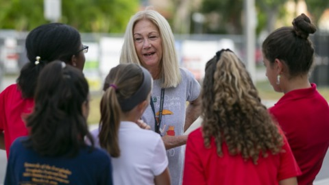 Today is the last day of school in Miami. This teacher says goodbye after 45 years