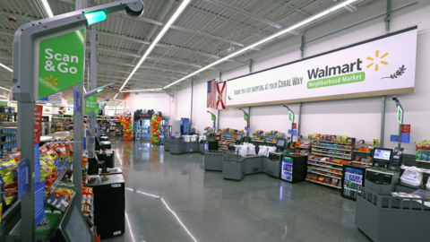 Dance party breaks out at new, cashier-less Walmart Neighborhood Market in Miami
