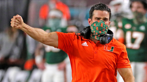 UM coach Manny Diaz on the Hurricane's biggest win over FSU in 44 years