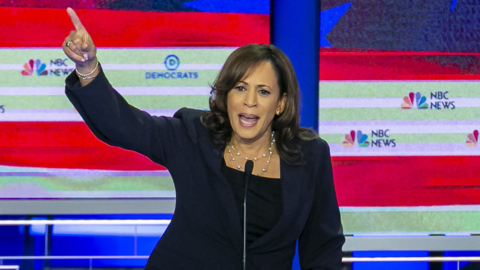 Kamala Harris took on Trump and Biden in an assertive Democratic debate performance