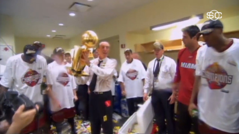 A revealing and emotional Pat Riley scoffs at retirement, sees another Heat championship