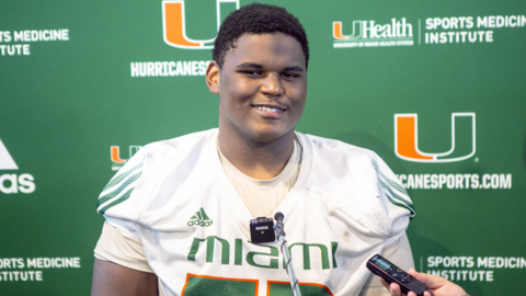 UM freshman right tackle Jakai Clark on his progress this year and outlook for next season