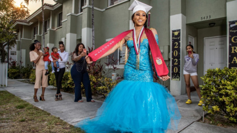 Fashionable Norland graduate designed her $1,600 dress, ended up in pandemic, not prom