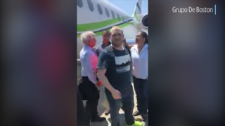 Video shows released American detainee Joshua Holt boarding plane in Venezuela