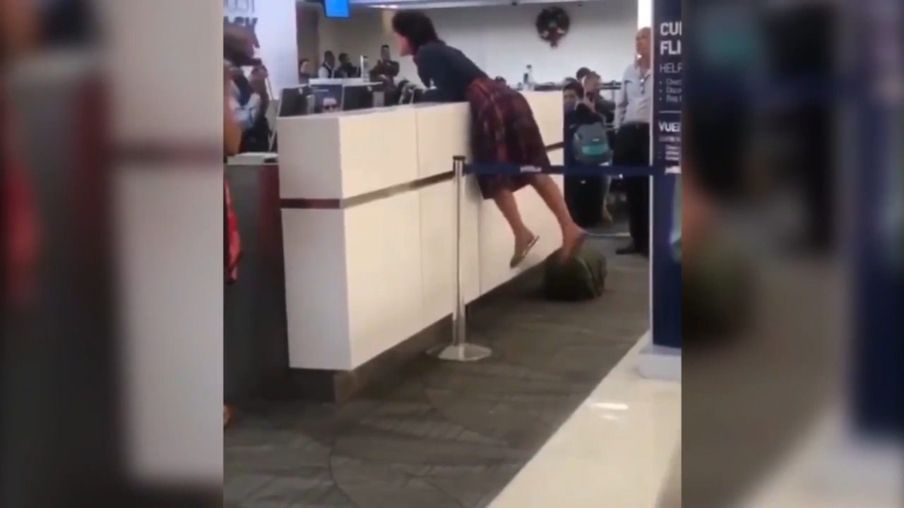 'Get me out of this state!' Video shows woman's meltdown at Florida airport
