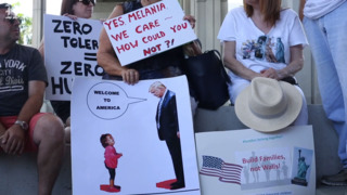 Hundreds of scorched Fort Lauderdale protesters turn up heat on Trump immigration policy