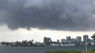 As tornado warning issued, clouds swirl over Fort Lauderdale