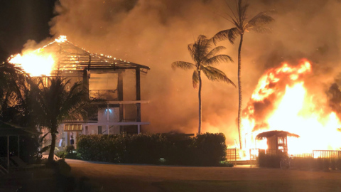 Key Largo resort that lost its main building to fire says it will reopen in December