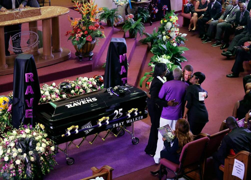 Ravens pay tribute to Tray Walker at funeral service in