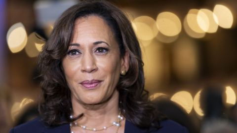 Inside the post debate Spin Room with Kamala Harris