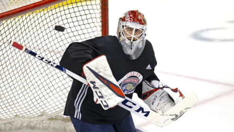 """""""It was a great practice,"""" Bobrovsky said."""