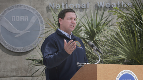 Local emergency managers praise DeSantis' leadership in his first hurricane test