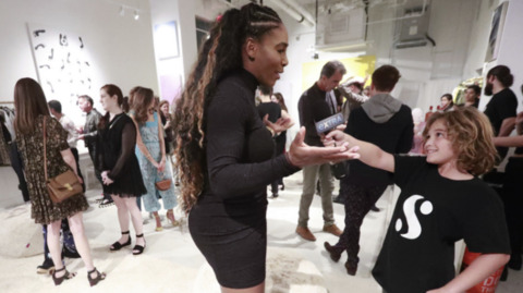 Serena Williams launches new fashion line at Art Basel