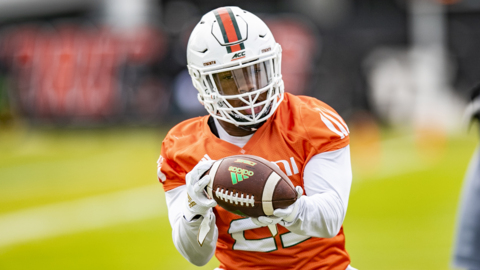 DeeJay Dallas left for NFL and Don Chaney had surgery, but this Miami RB is 'primed'