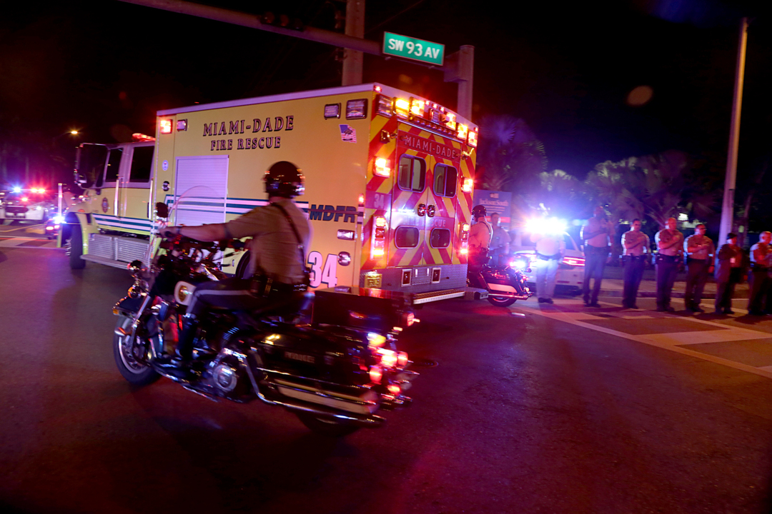 A Miami-Dade cop involved in a crash was killed Wednesday